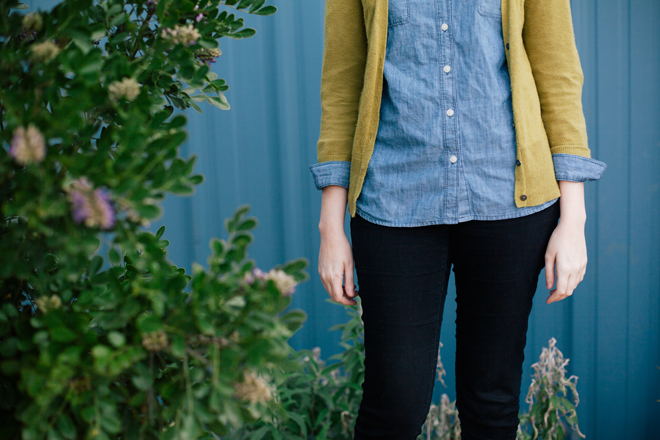 chambray and chartreuse