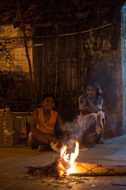Kids at the Bonfire