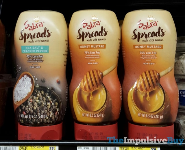 Sabra Spreads (Sea Salt & Cracked Pepper and Honey Mustard)