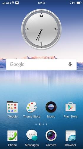 Home screen ของ OPPO N3