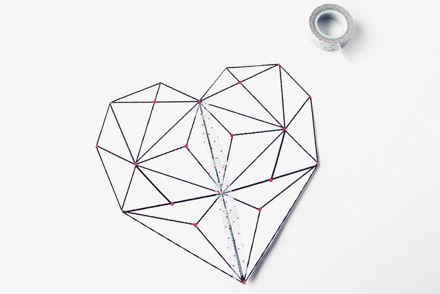 DIY geometric heart string art 03