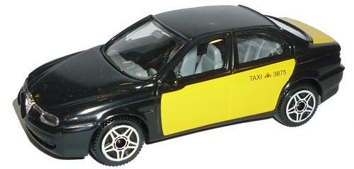 Burago Alfa 156 Taxi Barcellona
