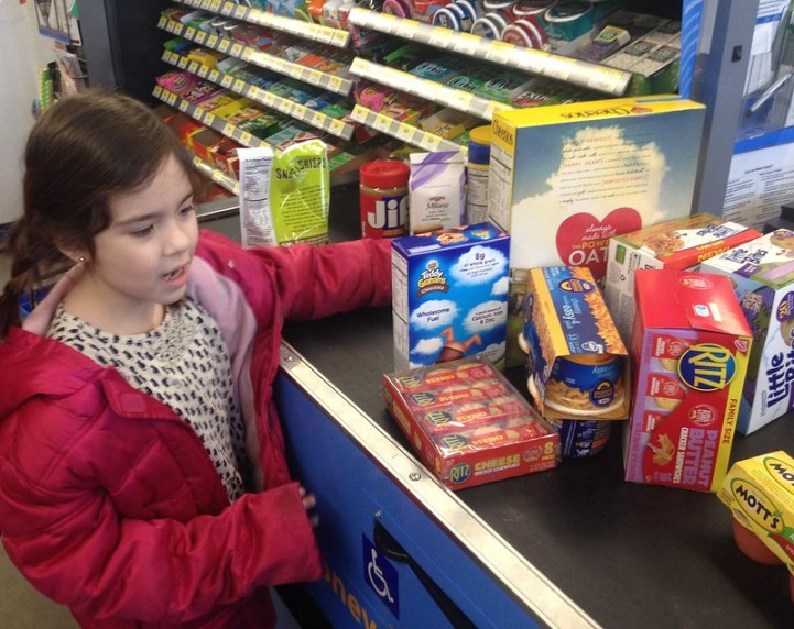 Buying #SnacksforStudents at Walmart