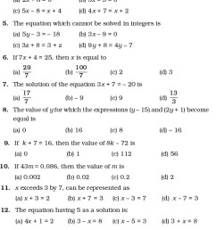 Class 7 Important Questions for Maths – Simple Equations   AglaSem Schools [ 1571 x 602 Pixel ]