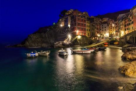 Blue hour @Riomaggiore #cinqueterre Italy 2016