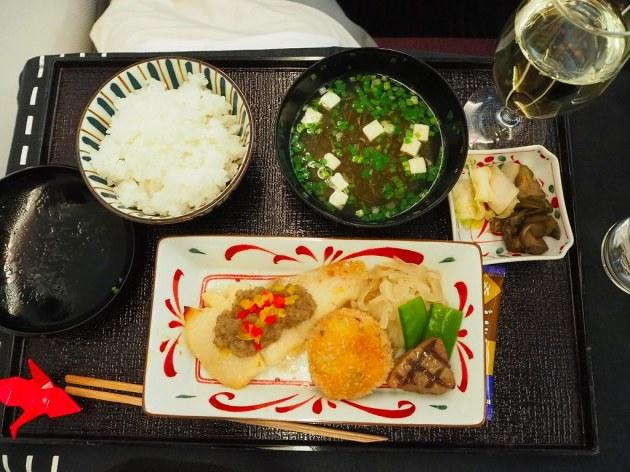 JALスカイスイート787 SS8ビジネスクラスの機内食