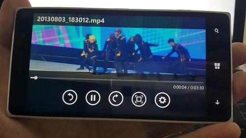 ดูคลิปบน Lumia 830