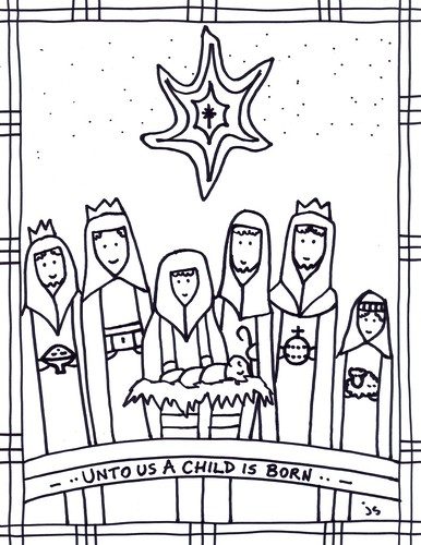 Epiphany art – Coloring page for kids