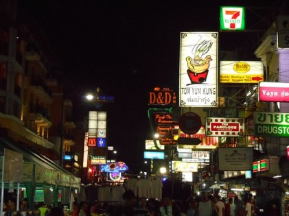 Khao San Road, nightime, Thailand