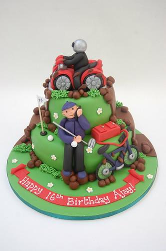 Quad Bike Bmx And Golf Cake Beautiful Birthday Cakes