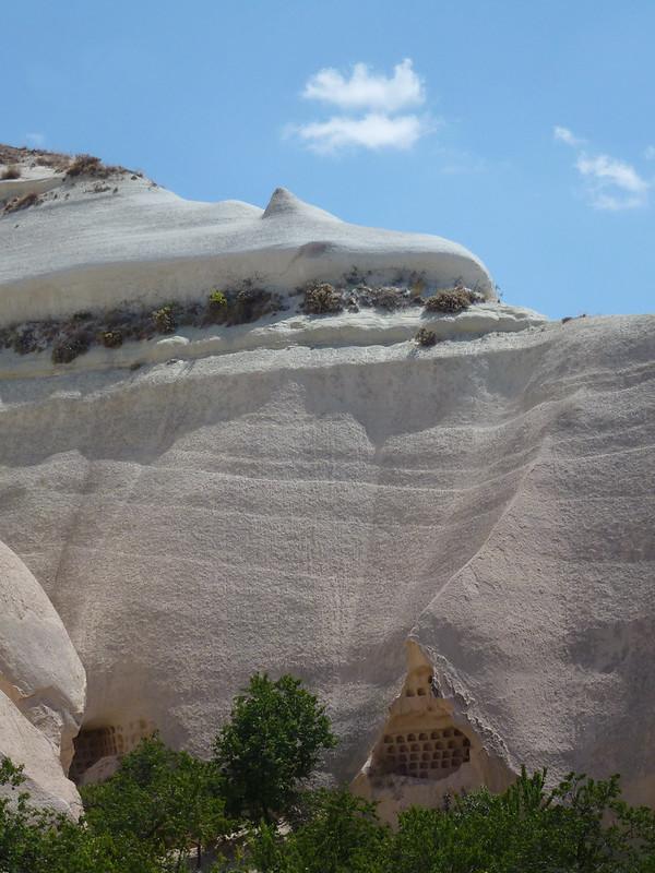 Turquie - jour 21 - Vallées de Cappadoce  - 050 - Çavuşin, Güllü Dere (vallée aux roses) - üç haçlı kilise (église des trois croix)