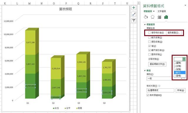 ~楓花雪岳~: [Excel] 堆疊長條圖