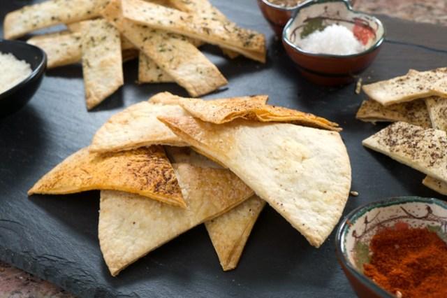 Hungarian Paprika tortilla chip wedges