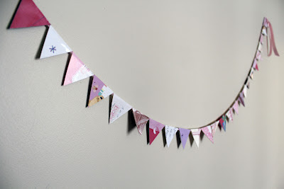 Upcycled Card Bunting