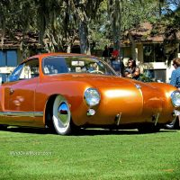 Slammed VW Karmann Ghia at Festivals Of Speed, Amelia Island
