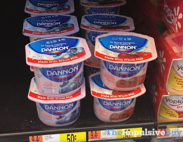 Dannon made with Whole Milk Yogurt (Blueberry and Cherry)
