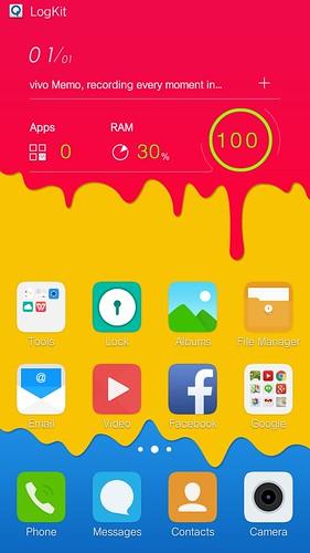Home screen ของ Vivo X5