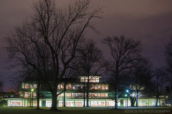 WUSTL Olin Library at Night