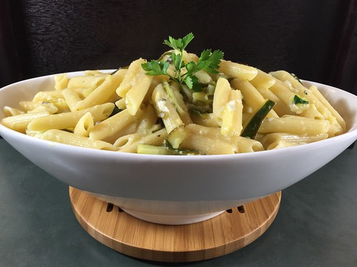 penne with zucchini and lemon