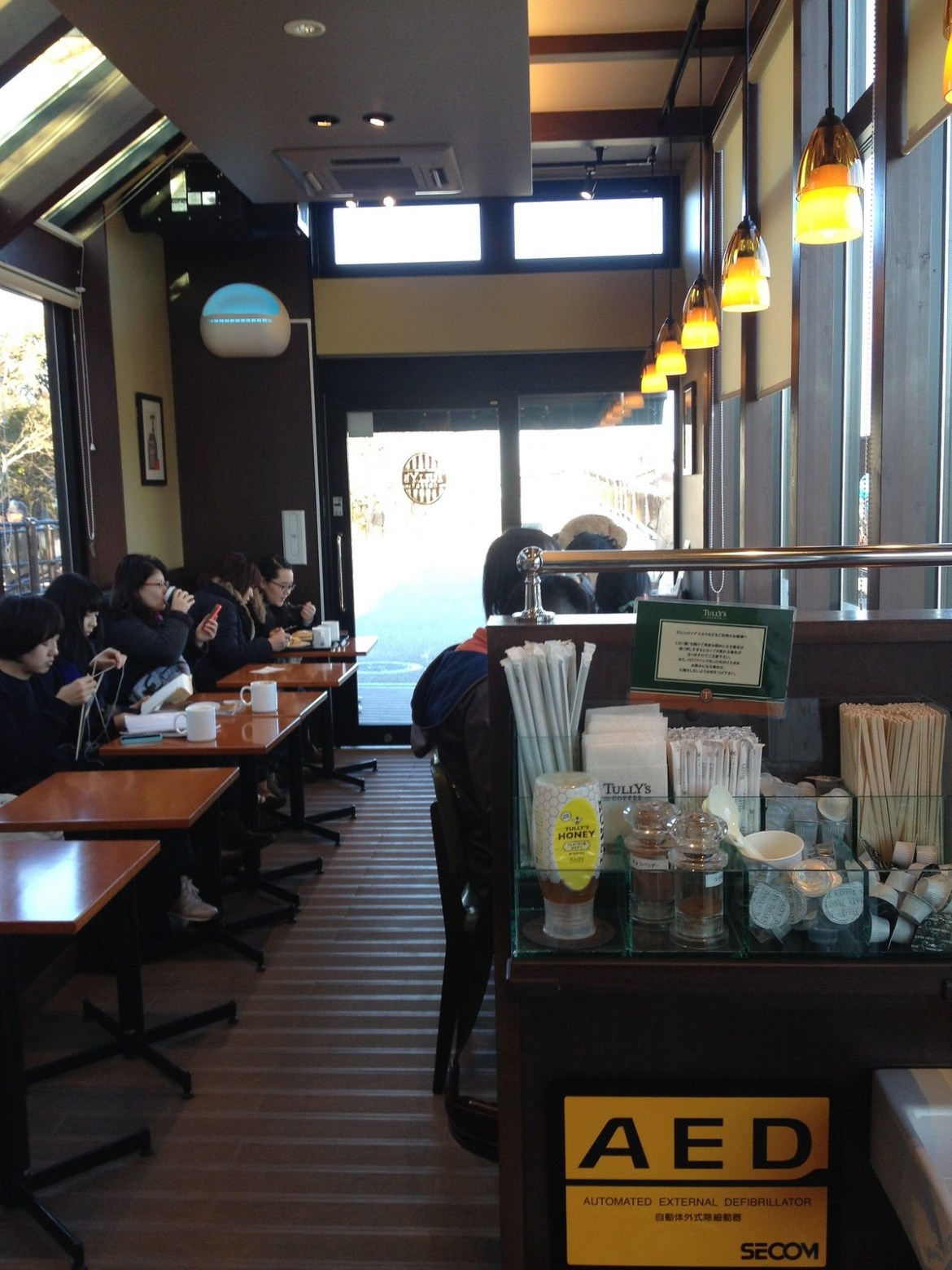 Tully's Coffee Cafe Sumida River interior shot