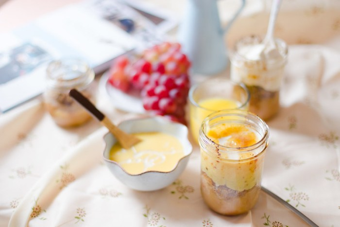 Mason Jar Apple Crisp with Custard
