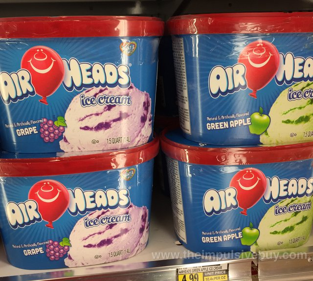 Airheads Ice Cream (Grape and Green Apple)