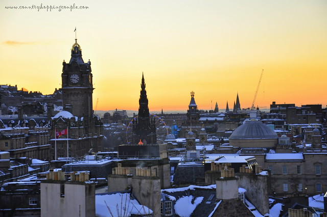 Edinburgh Snow Princes Street and New Town