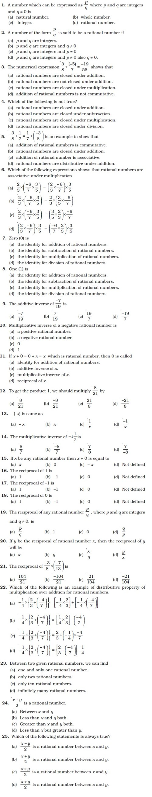small resolution of Class 8 Important Questions for Maths – Rational Numbers   AglaSem Schools