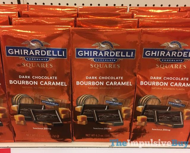 Ghirardelli Dark Chocolate Bourbon Caramel Squares