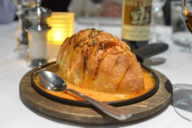 Skillet-roasted chorizo cheese bread