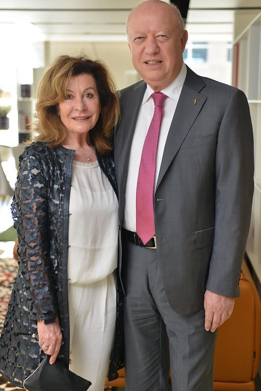 Alessandro Calligaris and wife Bruna