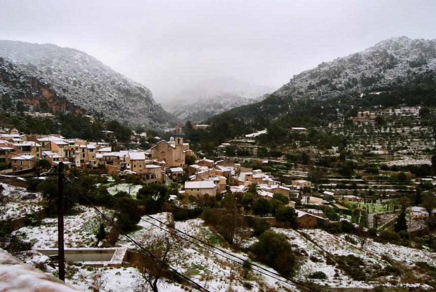 Nieve en Valldemossa. 5 de Febrero de 2015