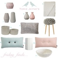 Chalky pastel living room accessories