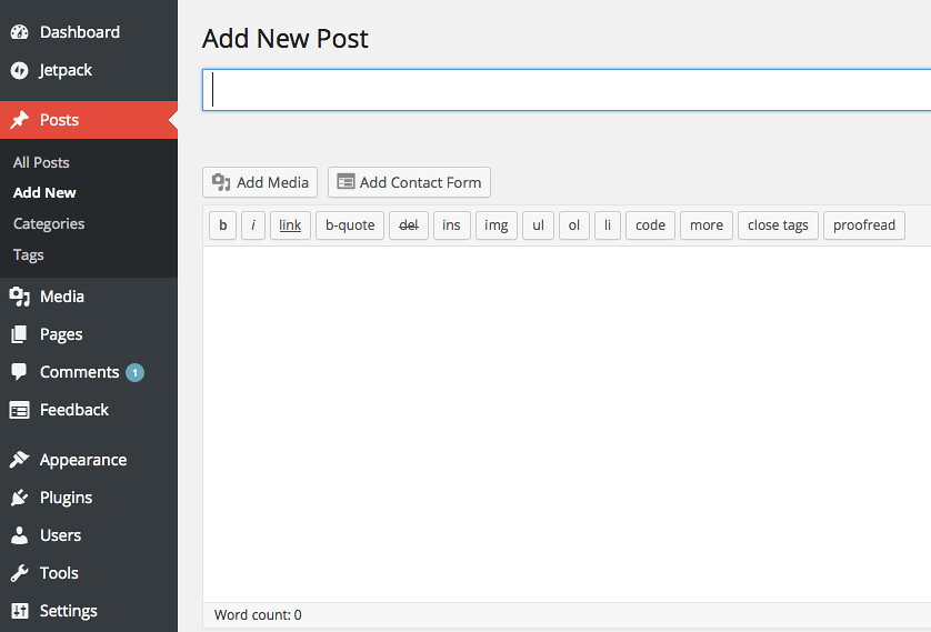WordPress - Add New Post