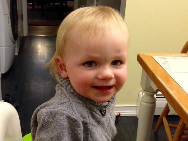 Sam's First haircut