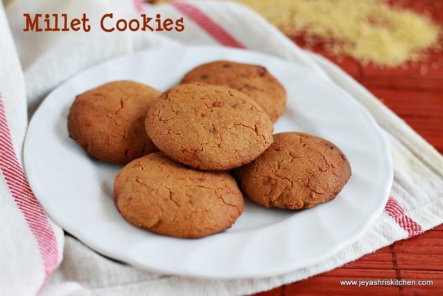 Millet-flour cookies