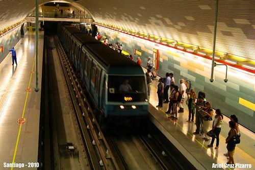 Metro de Santiago - Alstom NS93 - Los Domínicos (Línea 1)