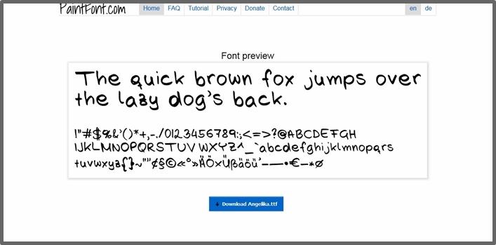 {DIY} eigene Handschrift als Font 05