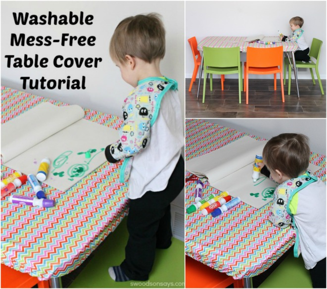 Washable Mess-Free Table Cover Tutorial