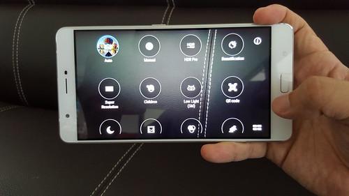 User Interface กล้องของ Zenfone 3 Ultra