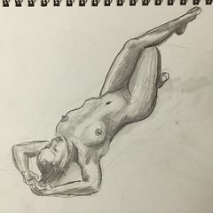 15 minute #sketch #FigureDrawing #graphite #fabercastell #livemodel