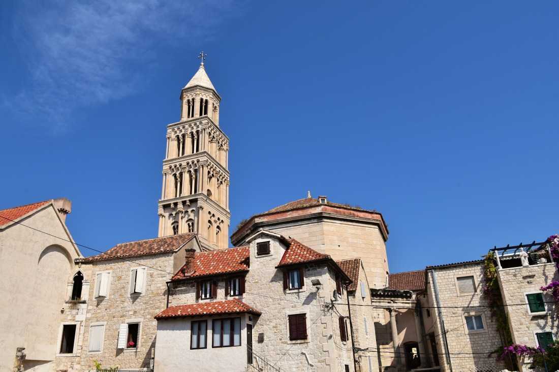 Diocletian's mausoleum (Cathedral of St. Domnius) and Romanesque bell tower of 12th century (5)