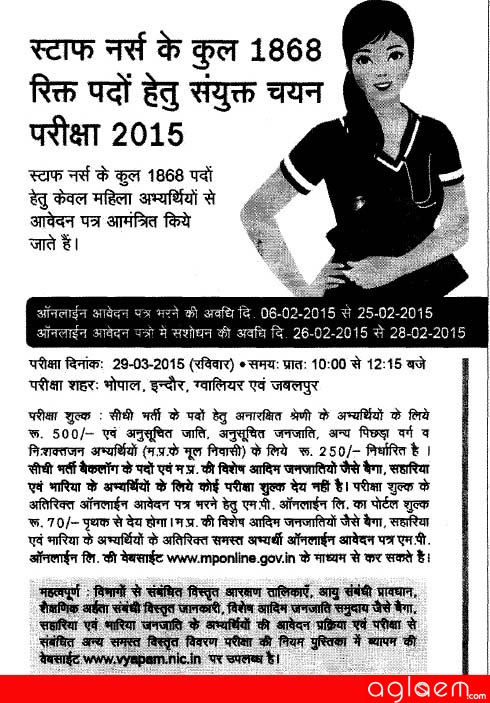 Vyapam Recruitment 2015
