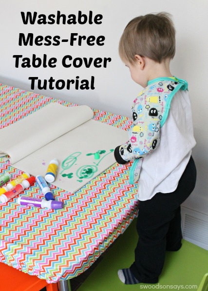 Mess Free Table Cover TUtorial