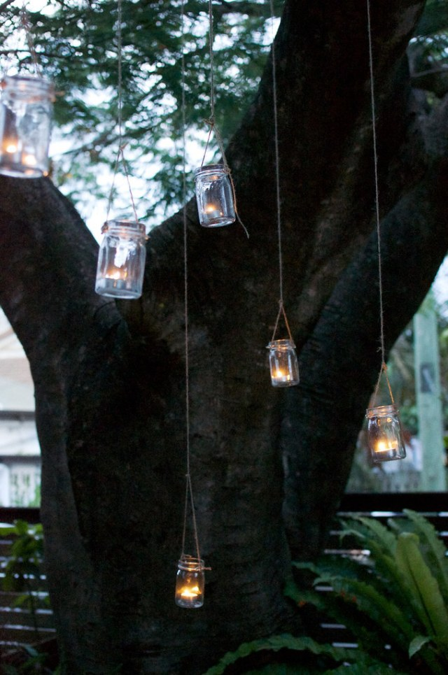 DIY Hanging Jar Lights for the garden www.apairandasparediy.com