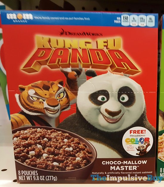 Mom Brands DreamWorks Kung Fu Panda Choco-mallow Master Instant Oatmeal