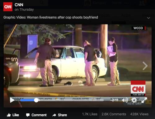 Diamond Reynolds ถ่ายทอดสดผ่าน Facebook Live กรณีที่ตำรวจยิงแฟนของเธอเสียชีวิต