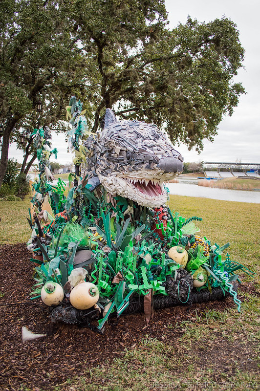 Recycled Trash Art Shark Sea World