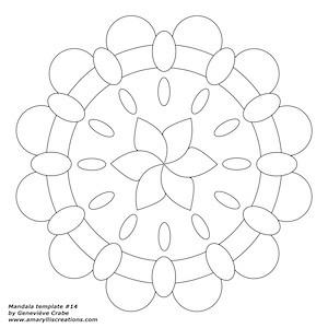 Mandala Zendala Templates Amaryllis Creations By Genevieve Crabe