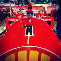 Good old times. Ferrari F1 World Champion at Abu Dhabi Yas Marina Circuit